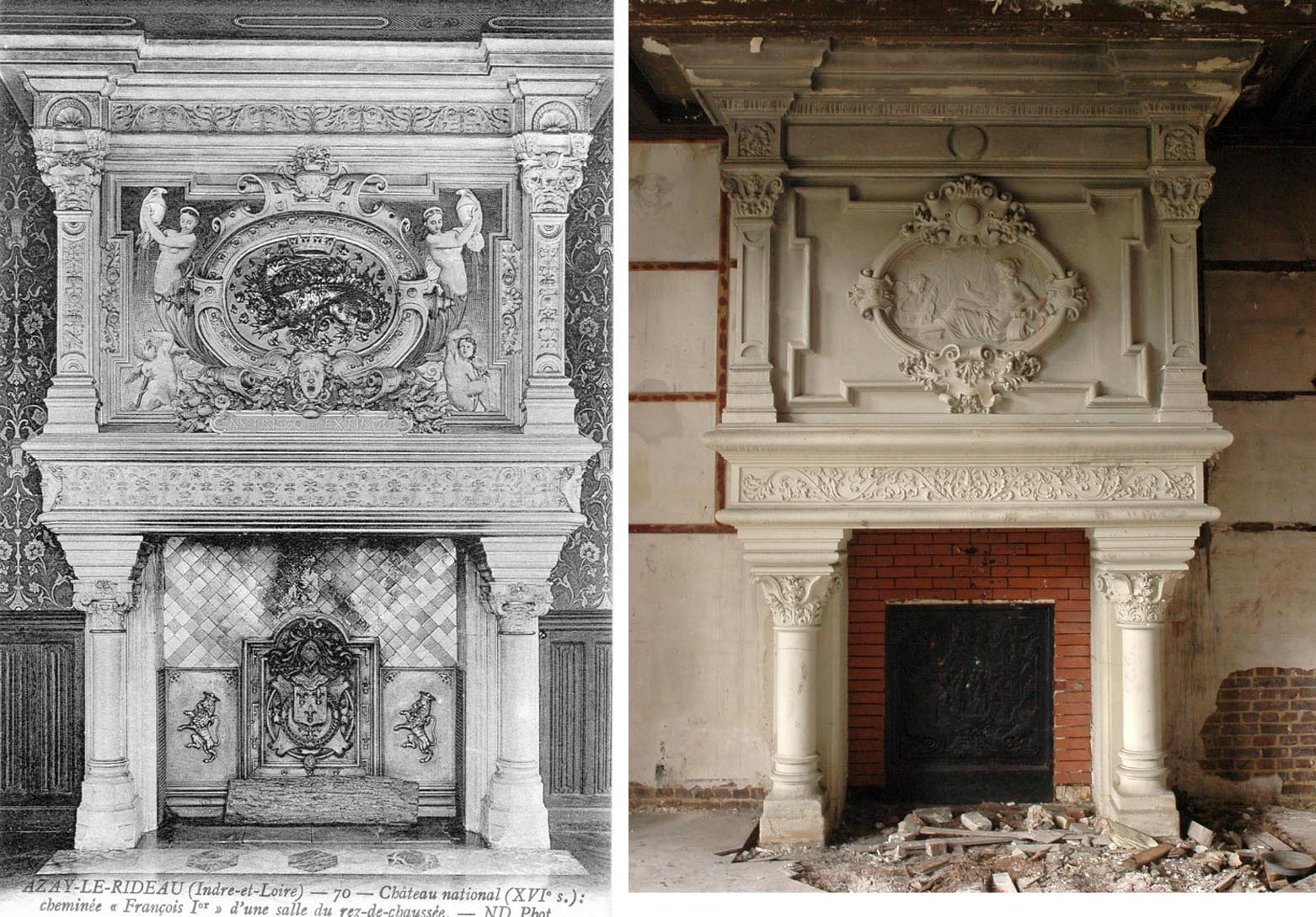 L exceptionnelle chemin e monumentale provenant du ch teau de montgeon attribu e edmond - Demolition cheminee ancienne ...