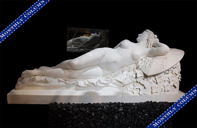 Splendid Statuary Carrara Marble Statue Representing