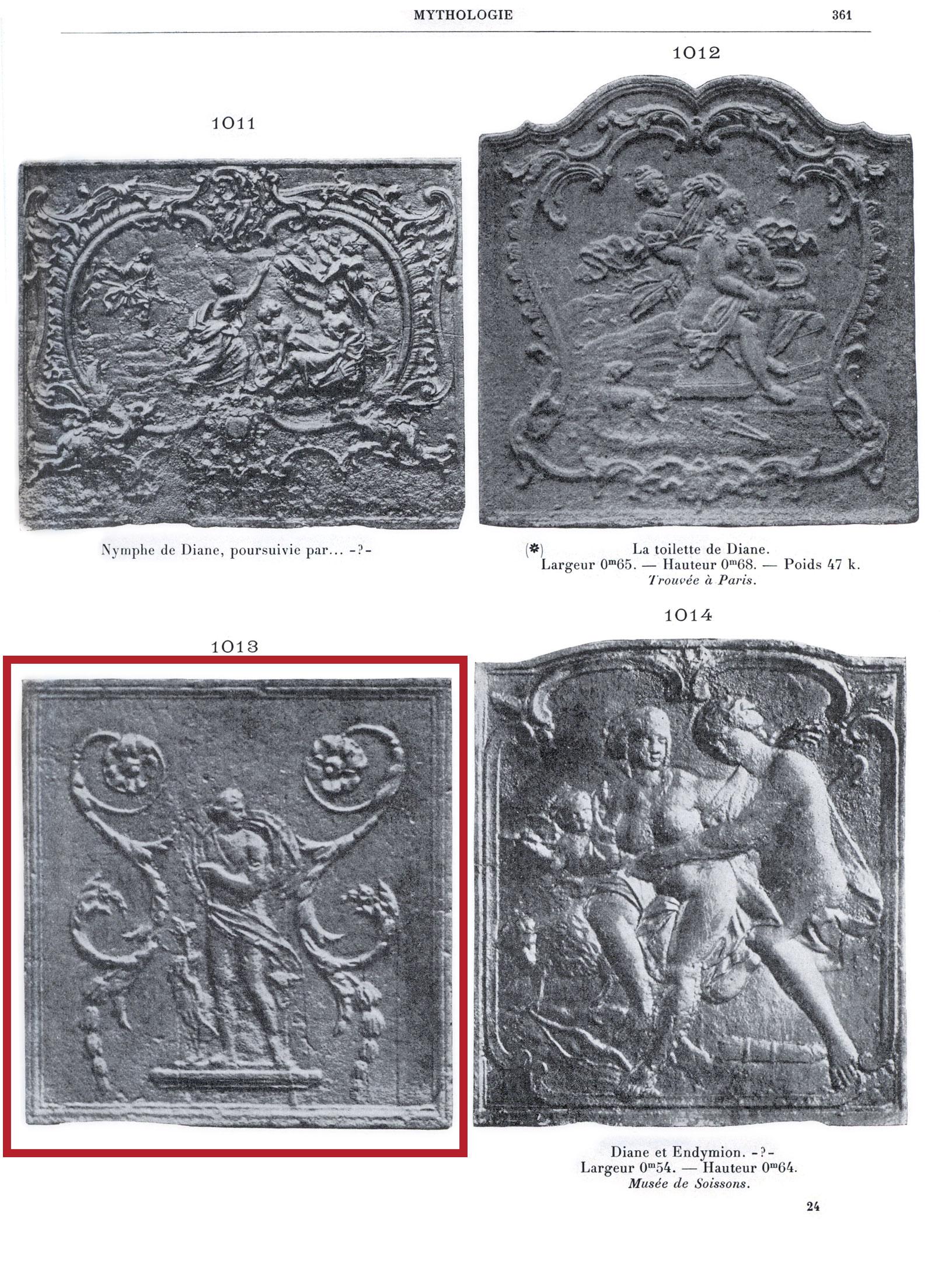 Picture from the book of Henri Carpentier - Les plaques de cheminées