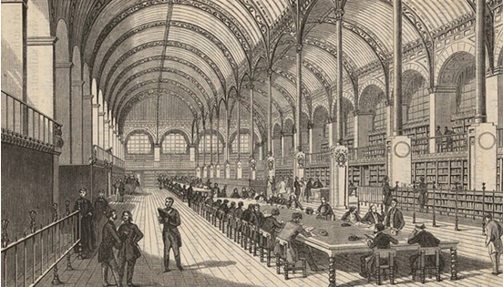 Structure métallique du magasin Le Printemps lors de sa reconstruction en 1881