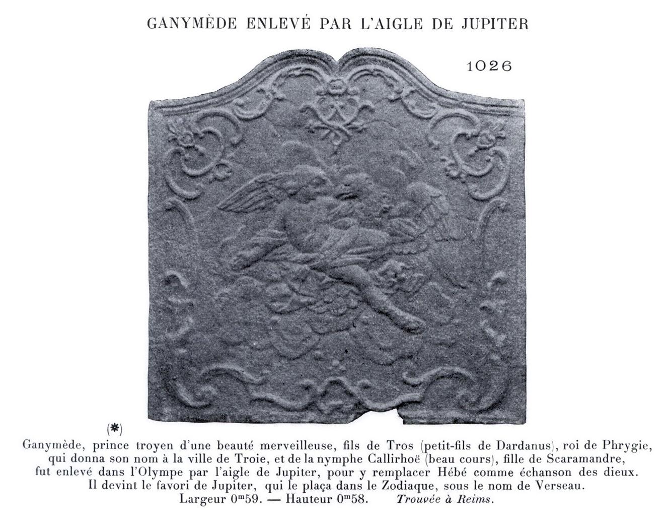 Illustration extraite de l'ouvrage d'Henri Carpentier - Les plaques de cheminées